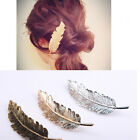 Beauty Women Leaf Feather Hair Clip Hairpin Barrette Bobby  Pin Hair Accessories
