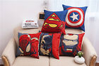 "Marvel Super Hero Sofa car Linen Cotton Throw Pillow Case Cushion Cover 18""/45cm image"