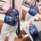 Womens Girls Sequins Backpack Glitter Bling School Travel Mini Rucksack Bag US
