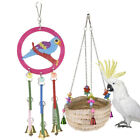 Pet Bird Parrot Cage Hanging Swing Chewing Biting Toys Cockatiel Nest Bed Toys