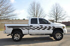 Checkered Flag Race Pick Up Vinyl Decal Graphic Vehicle SUV Truck Car Dodge Ram