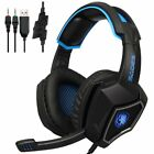 SADES L9 USB Gaming Headset Stereo Computer Headphones With Mic 3.5mm Jack LN