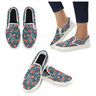 InterestPrint Custom Cute Forest Fox Slip On loafers Women's Canvas Flat Shoes
