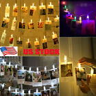 picture hanging clip - 20 LED Hanging Picture Photo Peg Clip Fairy String Lights Party Decoration
