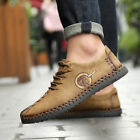 Mens Casual Shoes Leather Soft Leisure Loafers Breathable Footwear Smart Dress