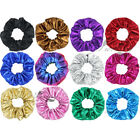 Set of 12 Faux Leather Hair Scrunchies Ponytail Holder for Women Hair Accessory