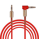 For Phone PC 3.5mm Male to Male Car Aux Auxiliary Cord Right Angle Audio Cable