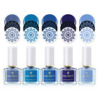 6ml BORN PRETTY Nail Art Stamping Polish Light Blue Plate Beach Walking Series