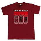 How To Kill A Zombie, Mens Funny T Shirt - Dead Walking Gift Him Dad Fathers Day