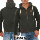 Naketano Herren Sweatjacke Fucking for Freedom Hoodie Jacke mit Kapuze Zipper