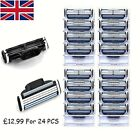 Mens Replacement Razor Blades For Gillette Mach3 Pack 4-24 UK Stock