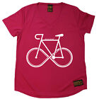 Ladies Cycling Infinity Bike Breathable top átee T SHIRT DRY FIT V NECK T-SHIRT