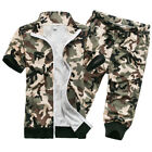 new Mens Sleeveless camo hooded pants two pieces suits Casual sport Summer vogue $29.99 USD on eBay