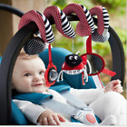 Baby Kids Developmental Spiral Toy Stroller Car Seat Cot Baby Play Travel Bell