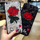 Luxury Fashion 3D Rose Flower Mobile Phone Case Cover For iPhone X 8 7 6S Plus