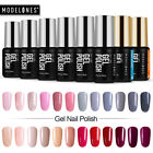 Modelones Set 8 Color Gel Nail Polish Pink UV LED Nail Manic