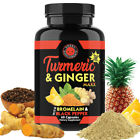 Turmeric Curcumin & Ginger Maxx Capsules w. Black Pepper, Joint Support 95%