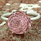 Pink Morganite Round Shape 925 Sterling Silver Ring Jewelry DGR1091_B