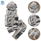 US Toddler Kids Baby Boy Hooded Vest Tops Shirt Shorts Pants 2PCS Outfit Clothes