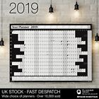 2019 Year Planner Wall Chart ✔Holidays & 2020 Calendar ✔Home,Office,Work ✔BLACK