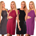 Внешний вид - Womens Maternity Short Sleeve Dress Breastfeeding Nursing Dress Pregnant Clothes