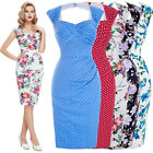 BP Women 1950s 60s Retro Swing Wiggle Vintage Style Cocktail Party Pnecil Dress