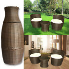 Rattan Garden Furniture Vase Set 3 Piece Two Seater Seat Coffee Table Stackable