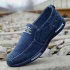 Men's Casual Canvas Shoes Loafers Breathable Flats Driving Boat Slip On Comfy