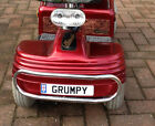novelty personalised aluminium number plate, mobility scooter, kids sit n ride