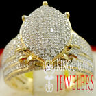 Real Diamond Bridal Ring 10K Yellow Gold Finish Wedding Engagement Ladies Band