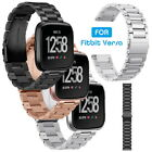 Stainless Steel Strap Wrist Band Bracelet For Fitbit Versa Watch with Adjustment