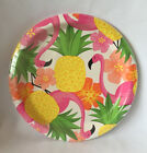 Pink Flamingo Paper Party Supplies Napkins or Plates Pink Yellow Green Choose