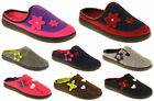 Ladies COOLERS PREMIER Felt Outside Sole Mules Slippers Size 4 5 6 7 8