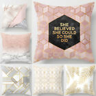 18'' Fashion Family short plush Pillow Case Sofa Cushion Cover Home Decor