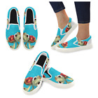 Custom Finding Nemo Sea turtle Slip On loafers Women's Canvas Flat Shoes