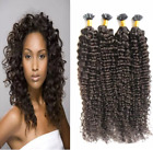 "Women 16""-24""Curly Pre-bonded Nail/U Tip  Remy Real Human Hair Extensions 50g"