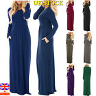Women Autumn Boho Loose Long Sleeve Maxi Dress Ladies Holiday  Kaftan Long Dress