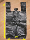 Black Large Plastic Shopping T-shirt Grocery Store Bags 11.5 x 6.5 x 21.5 (1/6)