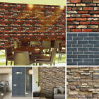 3D Wall Paper Brick Stone Rustic Effect Self-adhesive Art Sticker Home Decor USA $6.99 USD on eBay