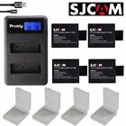battery + charger For SJCAM sj4000 eken H9 GIT-LB101 sj5000 6000 7000 8000 9000