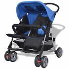 Twin Stroller From Birth Lightweight Double Baby Pushchair Toddler Pram Durable