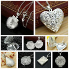 DELIGHTFUL  SILVER  or GOLD OPENABLE LOCKET NECKLACE  -VARIOUS DESIGNS (JCs26)