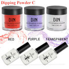 6pcs/set Dipping Powder Tool Kits Sin Cure Dip Polvo Uñas Natural Seco Belleza