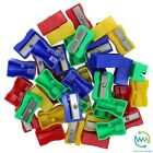 Plastic PENCIL SHARPENERS Kids COLOURS Single Hole For SCHOOL Home Office NEW