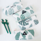 Fresh Forest Canvas Pencil Case Zipper Pen Bag Coin Purse Makeup Costmetic Bag