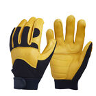 Deerskin Driver Leather Security Protection Safety Working Racing Motor Gloves