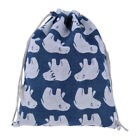 Multi style Printed Cotton Linen Drawstring Storage Bag Jewelry Gifts Organizer