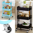 New Kitchen Rolling Trolley Cart Storage Shelf Utility Service Dining W/ Casters