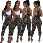 Sexy Women Sleeveless Sling Slim Belt Rompers Camo Casual Club Jumpsuit Playsuit