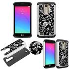 Hybrid Crystal for LG K7 Treasure Shock Proof Thin Case Bling Case Dual Layer